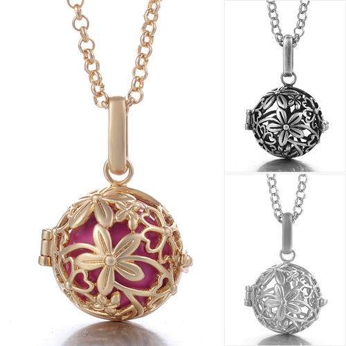 Angel callerharmony ball necklace intricate floral design angel callerharmony ball necklace intricate floral design aloadofball Images