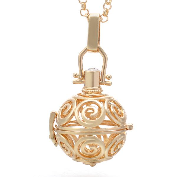 Angel callerharmony ball necklace swirl design happiheart angel callerharmony ball necklace swirl design thumbnail 1 aloadofball Images