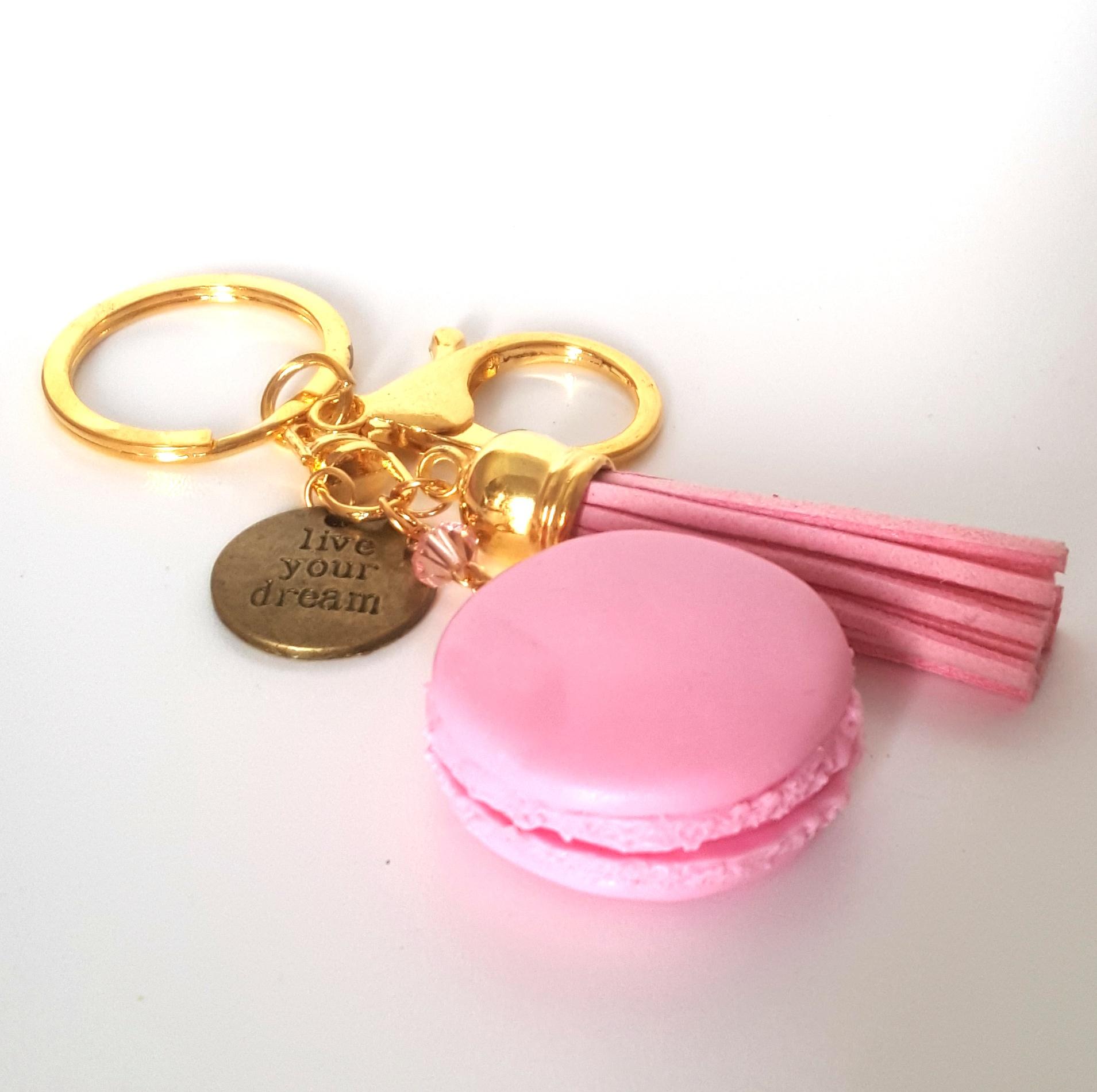 kawaii cute miniature live your dream french macaron