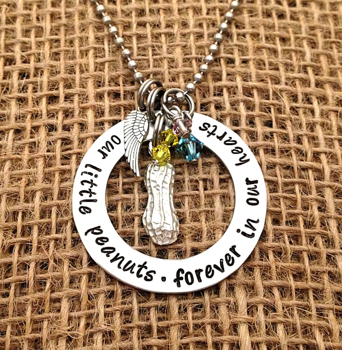 memorial necklace bean aag remembrance sentiments loss jewellery baby miscarriage sids