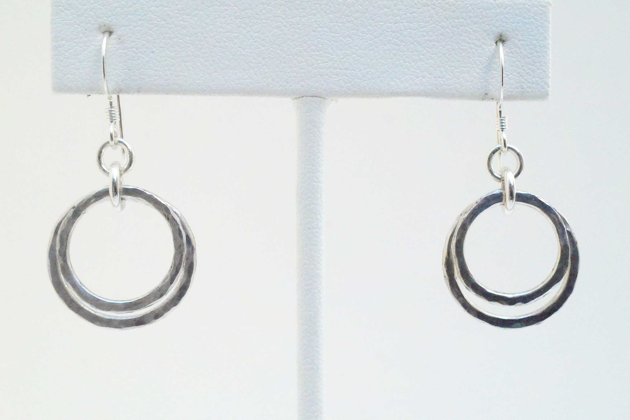 products hammered circles img sterling earrings original circle silver