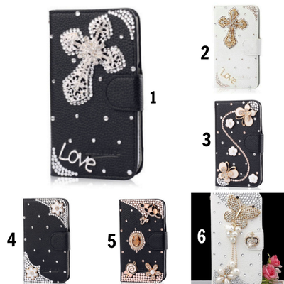 Galaxy s6 edge plus - beautiful ornamental wallet case in assorted designs