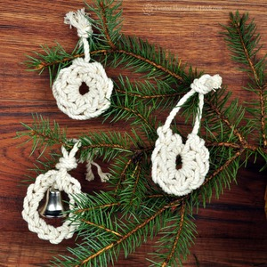 3 Rope Ornaments – Nautical Christmas Decor – Rope Decor
