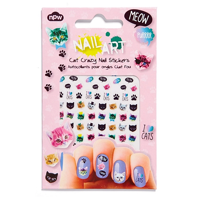 Cat Crazy Nail Art Stickers by npw · Open Soul Crafts · Online Store ...