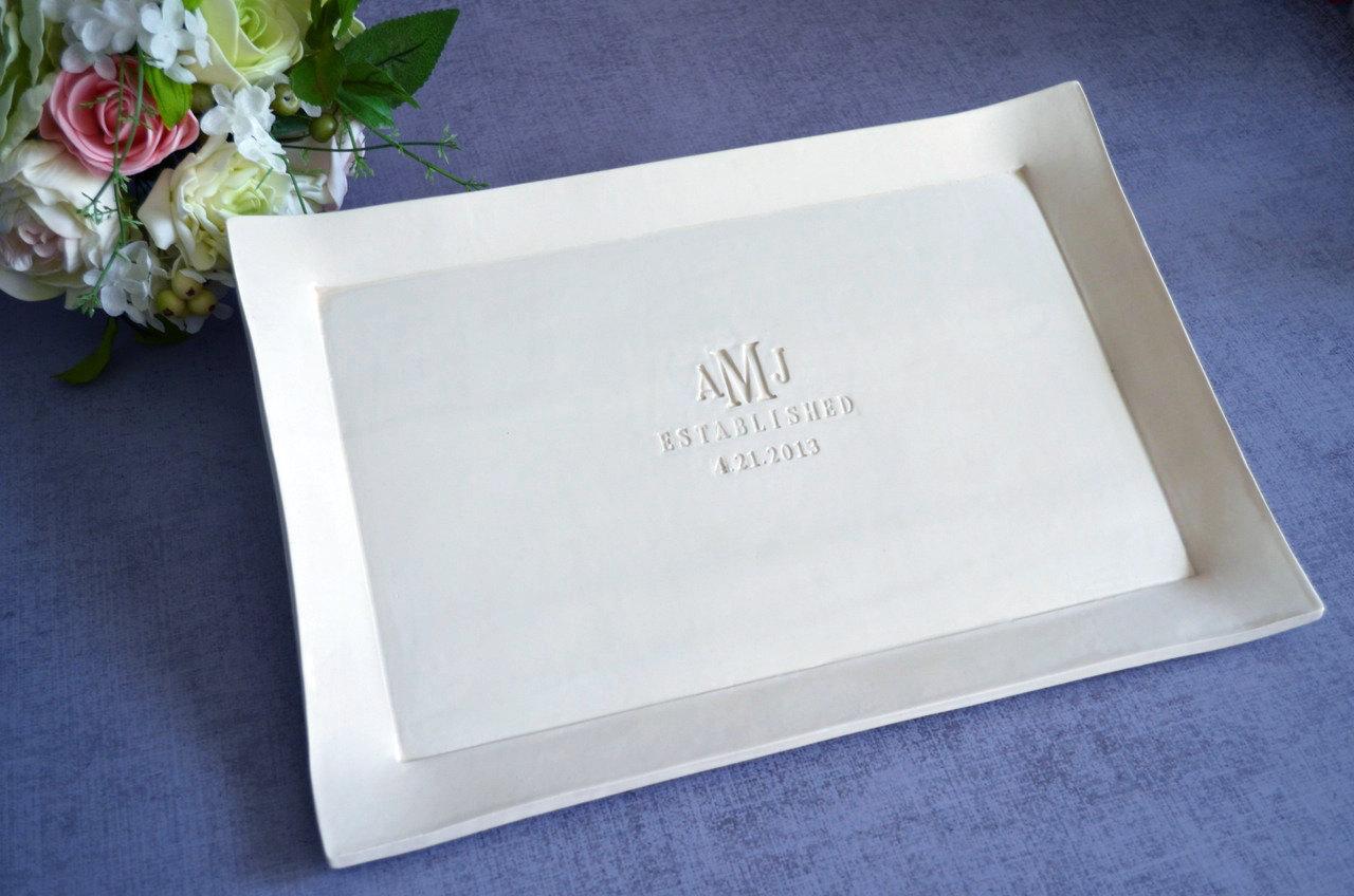Susabella | Large Rectangular Wedding Signature Guestbook Platter or ...