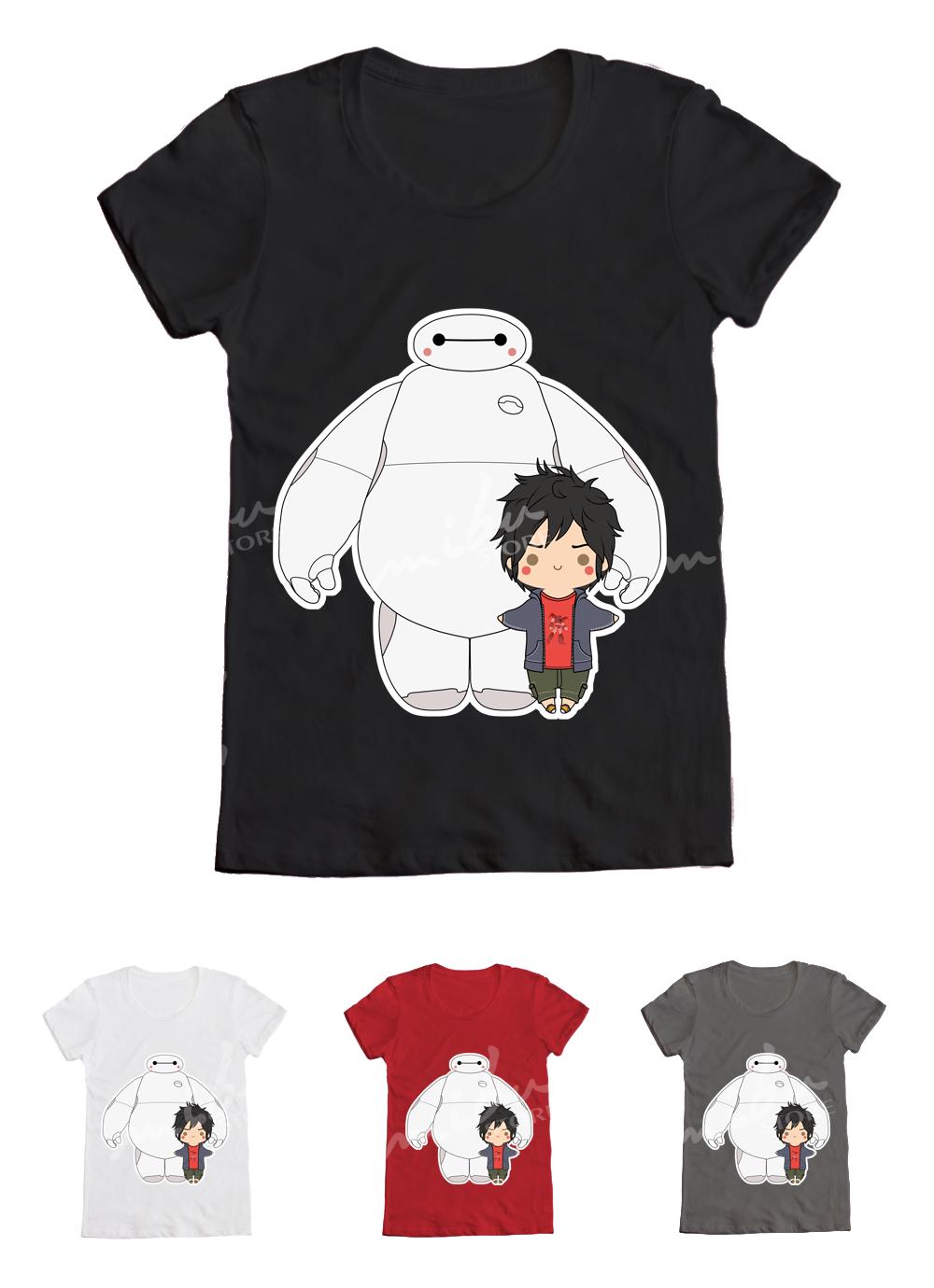 MibuStore · Custom T-Shirts | Big Hero 6 - Baymax+Hiro - T-Shirt
