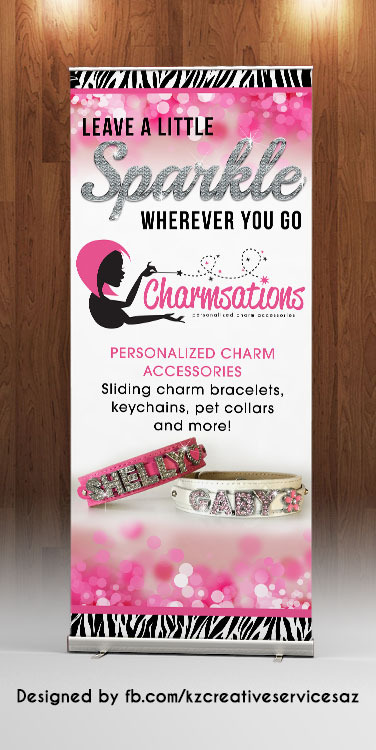 Charmsations Retractable Banner 183 Kz Creative Services