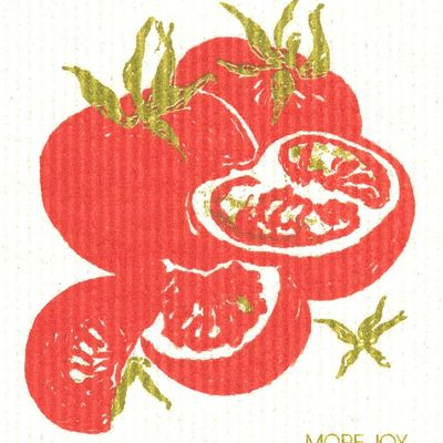 Tomatoes, finnish dish cloth (sponge cloth)
