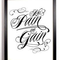 Image of No Pain No Gain, Typography Print, 11 x 17
