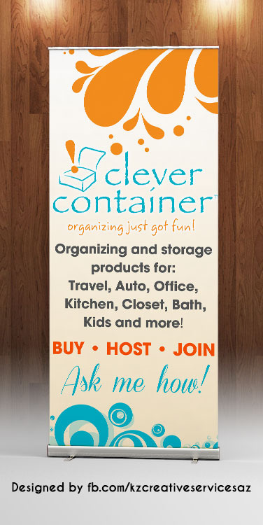 Clever Container Retractable Banner 183 Kz Creative