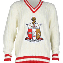 Kappa Alpha Psi Cable Knit V-Sweater