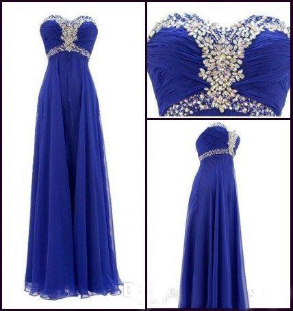royal blue prom dress,long prom dress,sweetheart prom dress,cheap ...