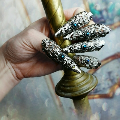 Gothic nail claw rings 5pc set