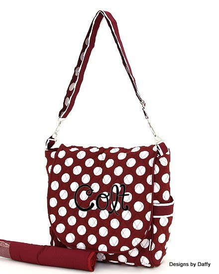 Personalized Diaper Bag Messenger Style From Designs By Daffy