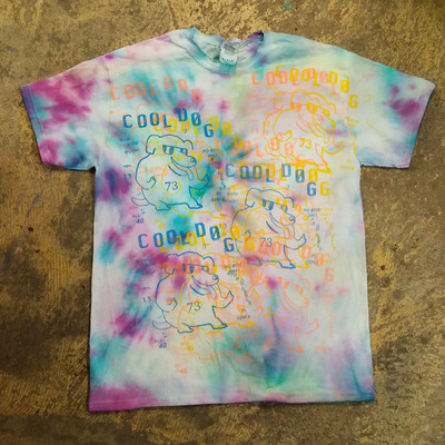 Wildberry slush pup cool dog tie dye t shirt