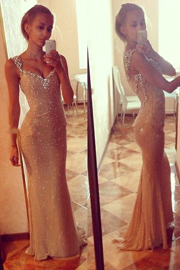 Gold mermaid prom dress, Sequin prom dress, Bling prom dress, See ...