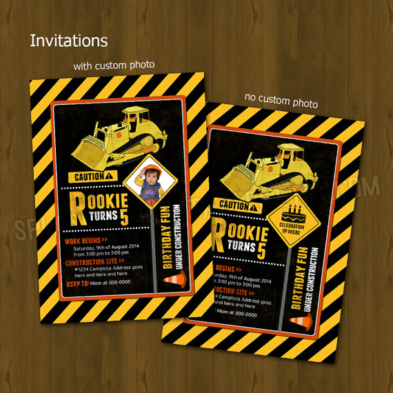 construction party printable birthday party decorations diy package