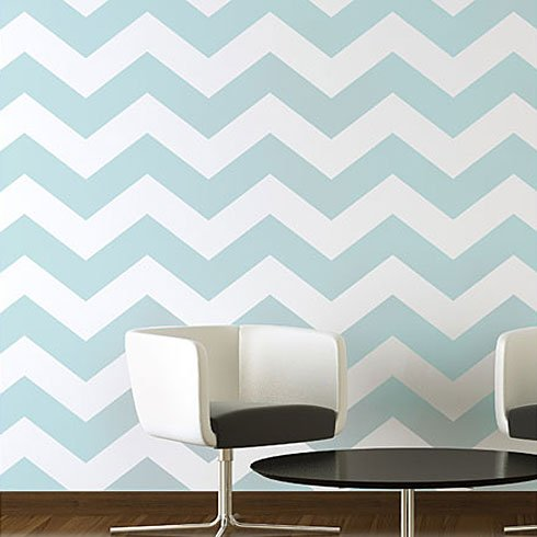 Chevron Allover Stencil Pattern - SMALL - DIY Wall Decor - Easy Home ...