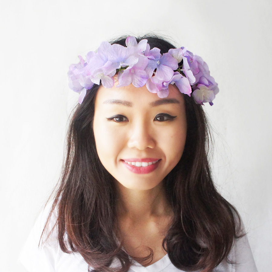Purple flower crown bohemian crown gypsy flower crown flower halo purple flower crown bohemian crown gypsy flower crown flower halo purple wedding izmirmasajfo