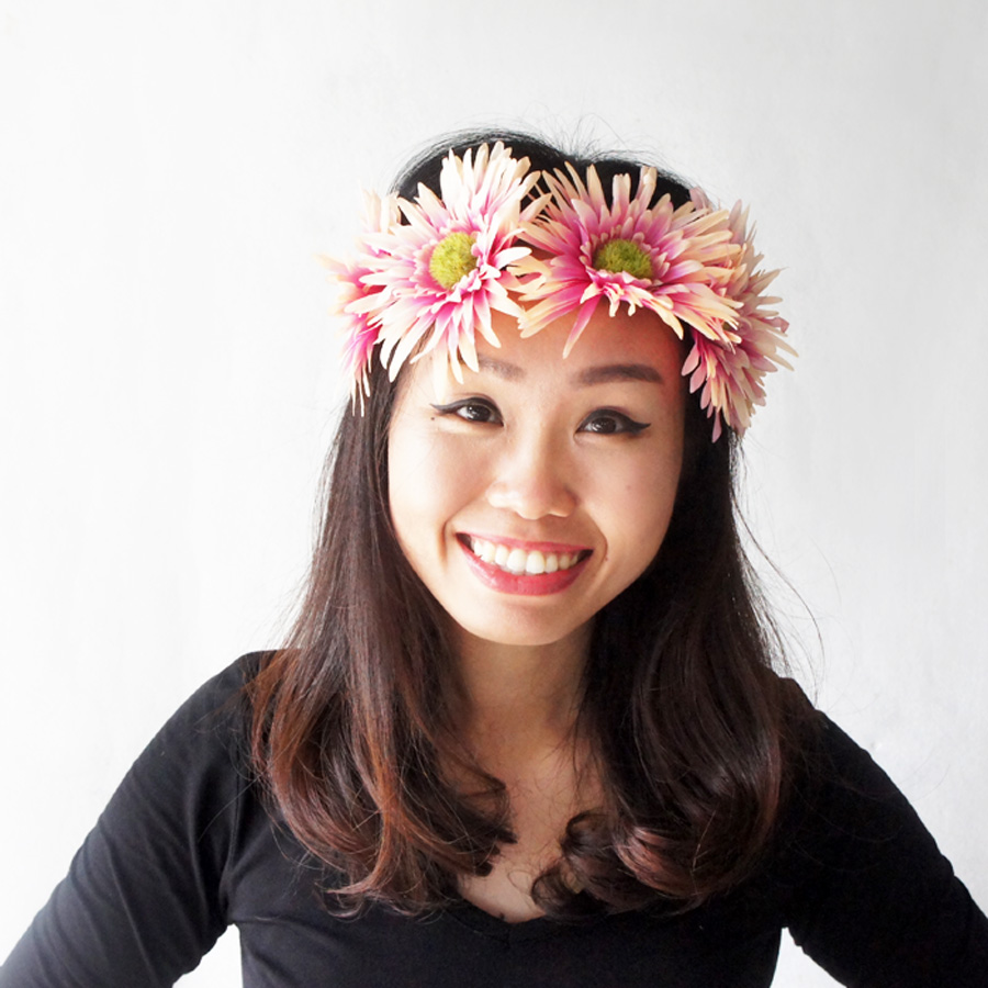 Pink Daisy Flower Headband Chic Style Headband Adult Hairband