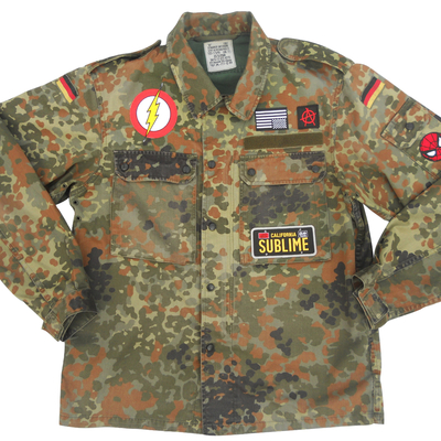 Embroidered camouflage fleck field shirt - german military x american anarchy brand