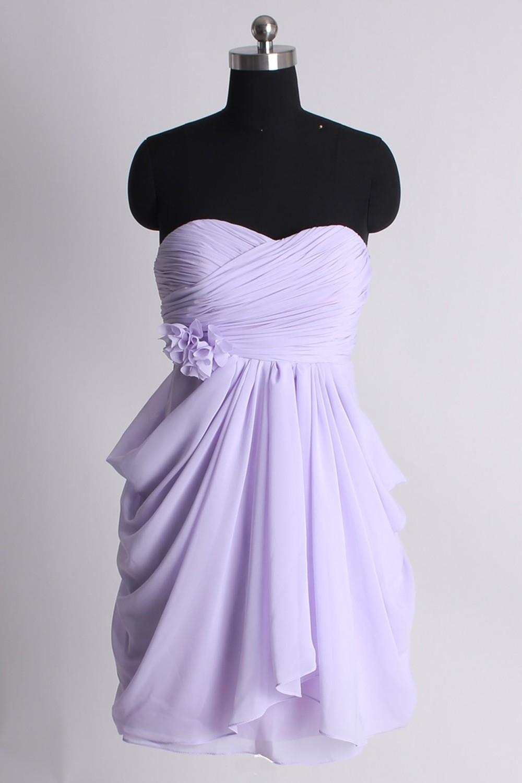 Short bridesmaid dress, Lilac bridesmaid dress,chiffon Bridesmaid ...