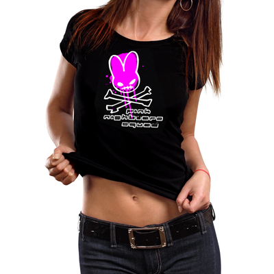 Nightmare lapin test logo 06 - ladies t - by pink nightmare squad
