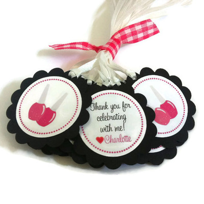 Spa Party Favor Tags - Nail Polish Gift Tags