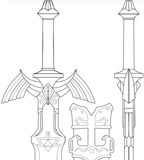 Twilight princess master sword pattern on storenvy malvernweather Gallery