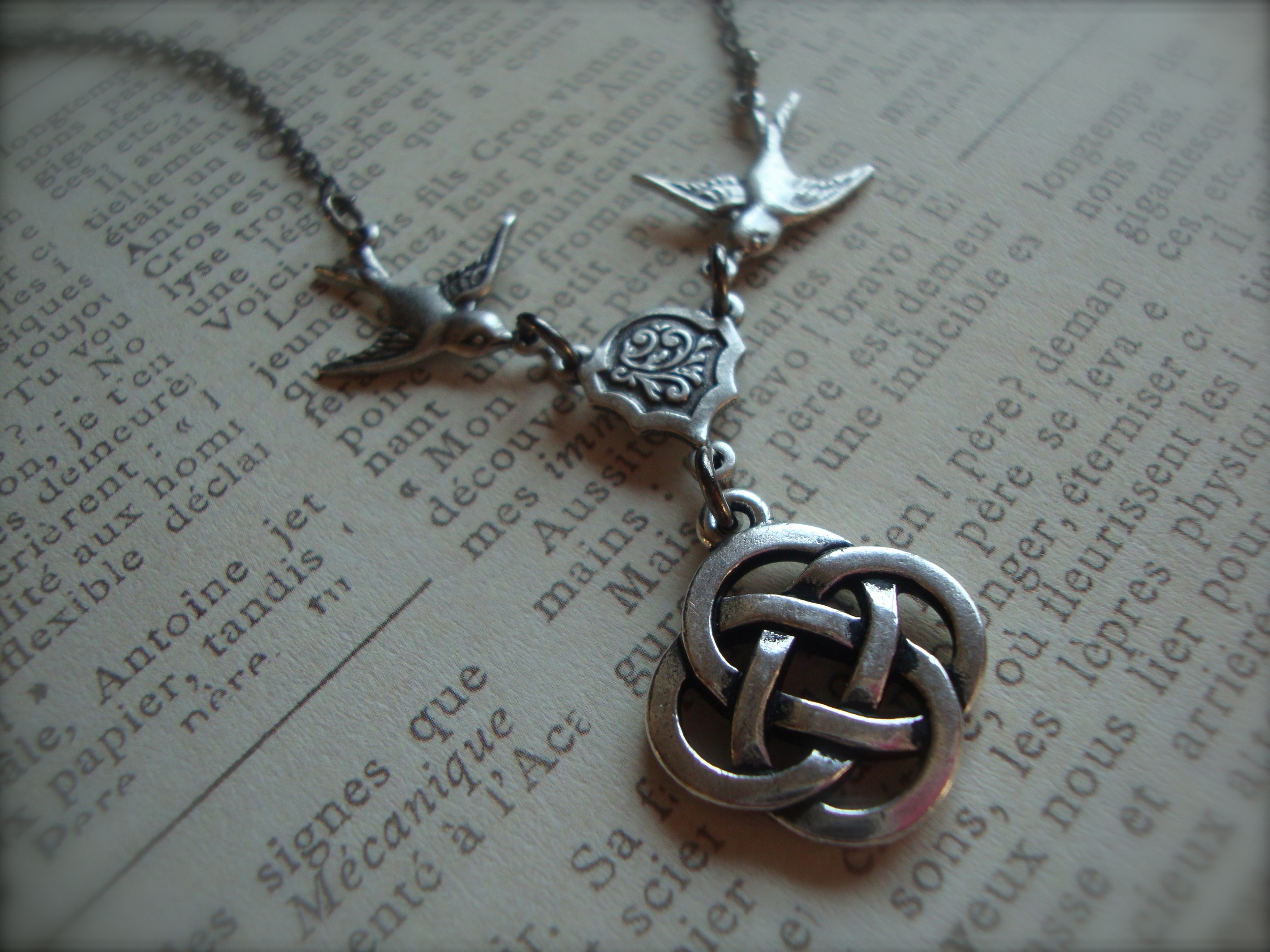 necklace jewelry itm silver ebay brass pendant handmade moon celtic vjnb sterling
