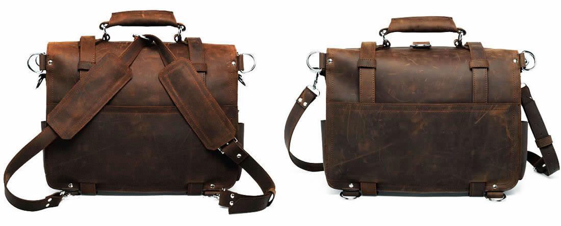 Men's Large Handmade Vintage Leather Briefcase / Leather Satchel ...