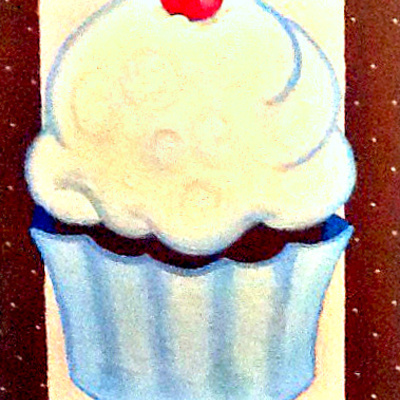 "11"" x 14"" cupcake (personalized) canvas art"