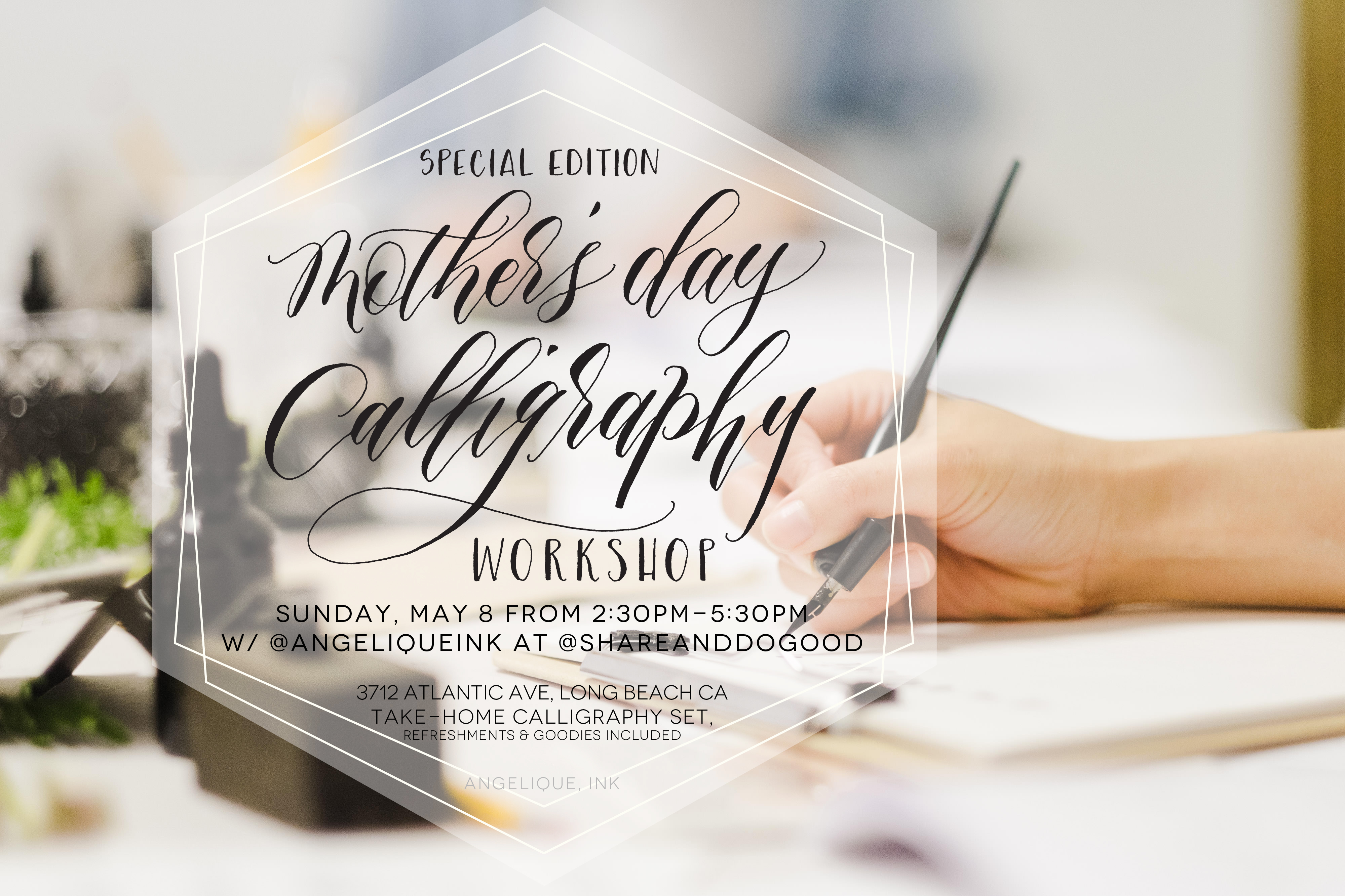 May 8 mothers day calligraphy workshop special edition