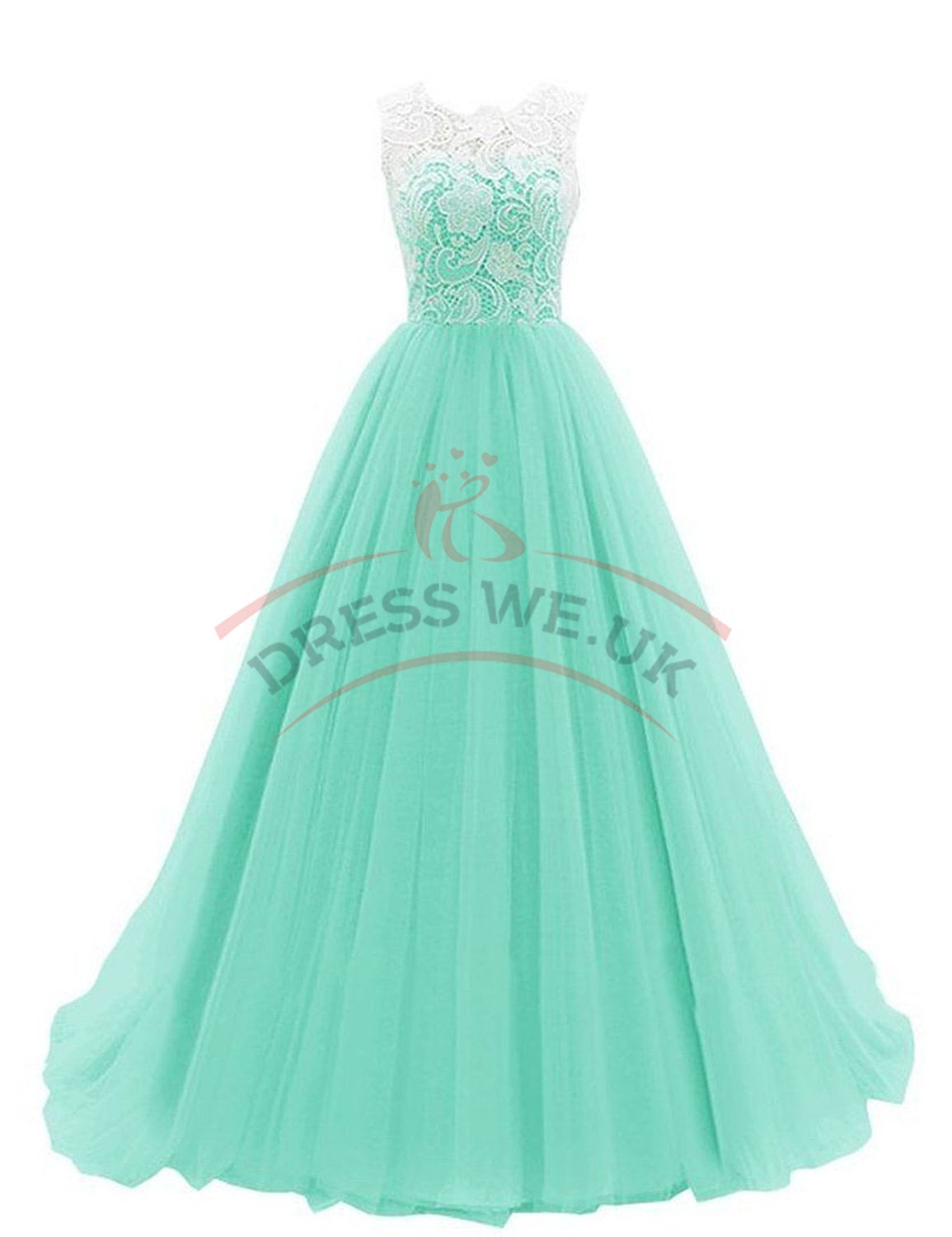 Elegant Mint Prom Dresses,Ruched Lace Prom Dresses,Sleeveless Prom ...