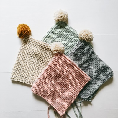 Knit pixie bonnets (limited)