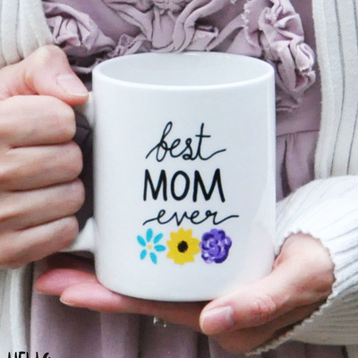 11oz best mom ever floral mug