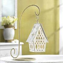 Shabby Chic Cottage House Lantern - Set of 4
