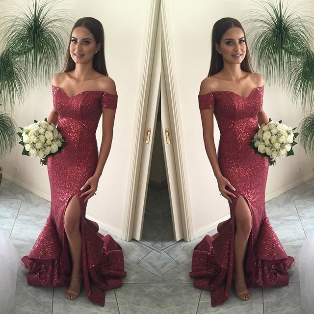Red Mermaid Prom Dress with Strap
