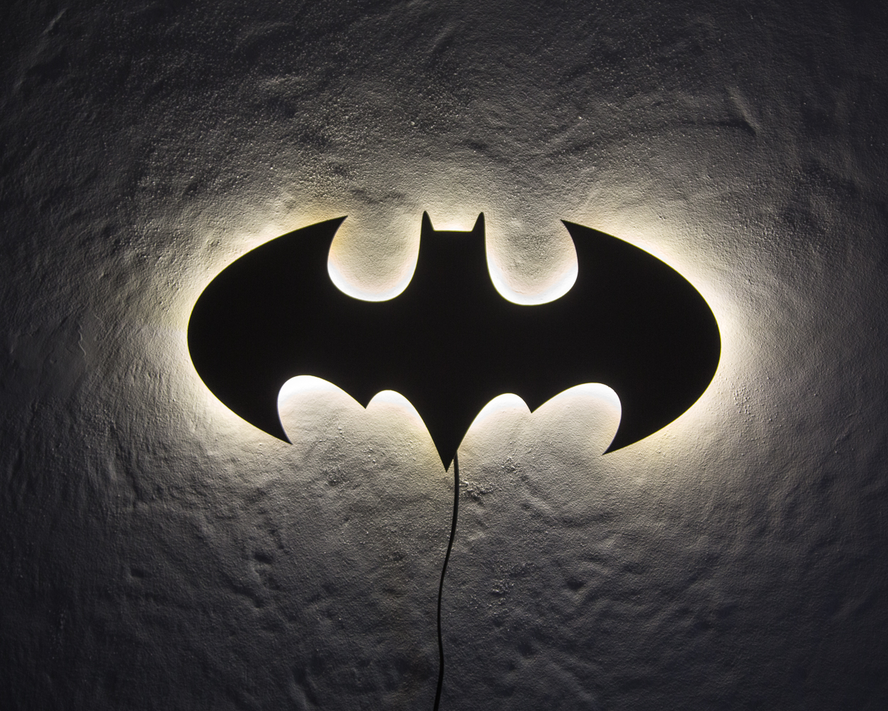 Wall lamp batman on storenvy aloadofball Choice Image
