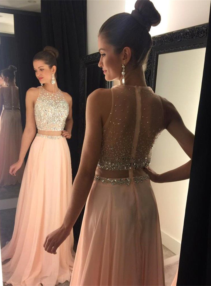 Prom dresses long and flowy evening