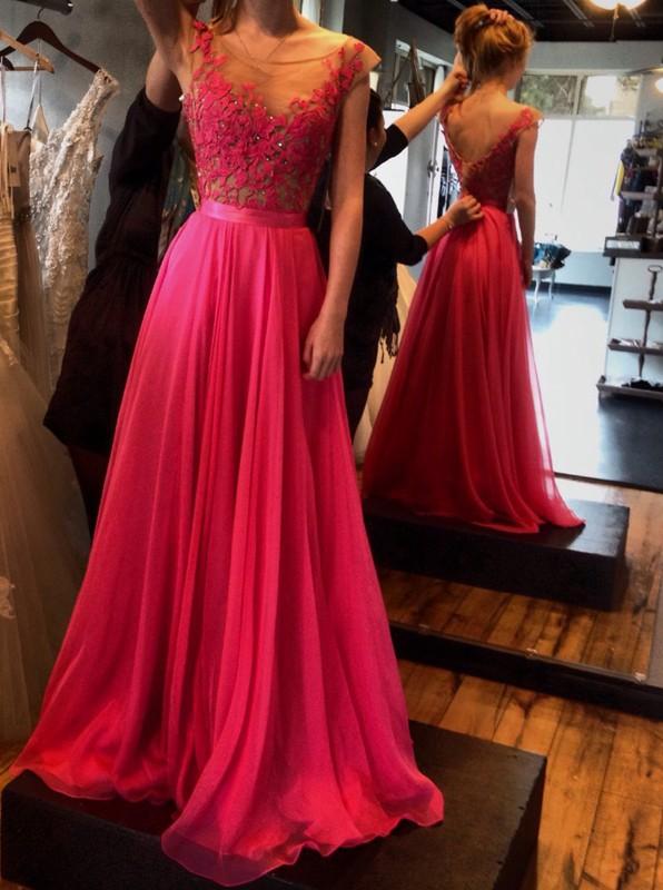 Ulass Elegant Chiffon A-Line Prom Dress Halter Bandage Backless ...