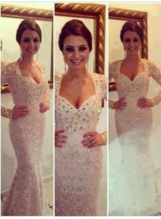Queen Anne Neckline Prom Dress