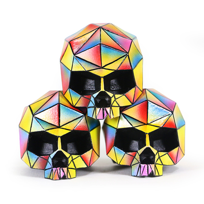 Zkt art custom mini skelevex skull