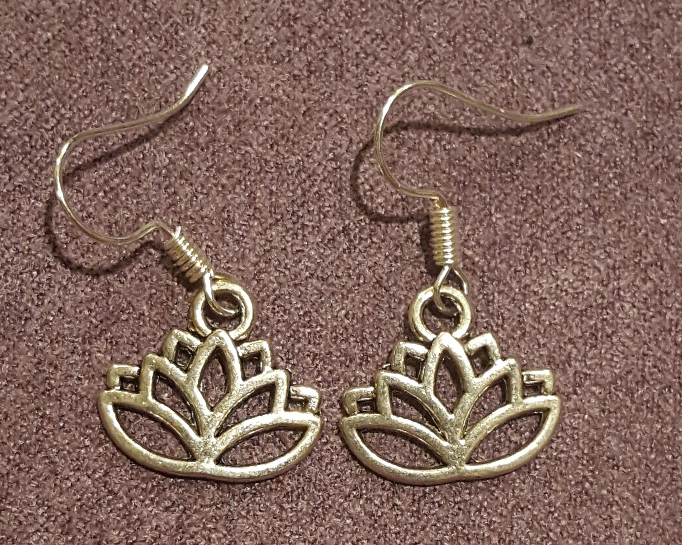 Lotus Flower Charm Earrings Roses Creations Online Store