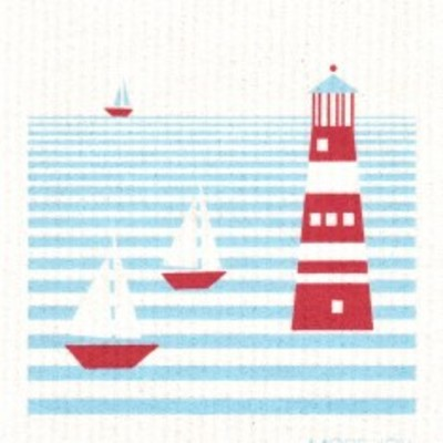 Lighthouse, finnish dish cloth (sponge cloth)