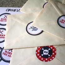 Printable Pirate Party Circle Labels