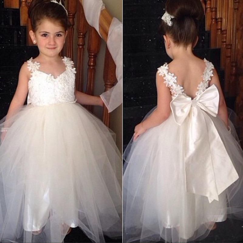 LF12 Appliques Lace Junior Bridesmaid Dress,Lovely Birthday Party ...