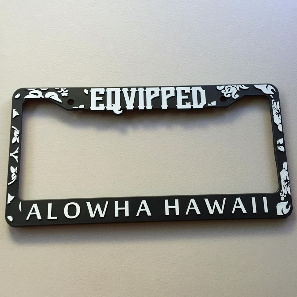Eqvipped | Eqvipped ALOWHA Black License Plate Frame | Online Store ...