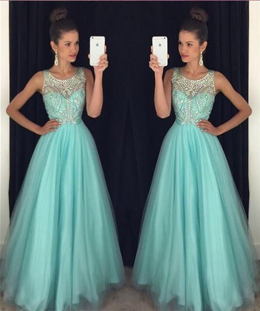Off shoulder blue Prom Dress, long Prom Dress, beaded Prom Dress ...