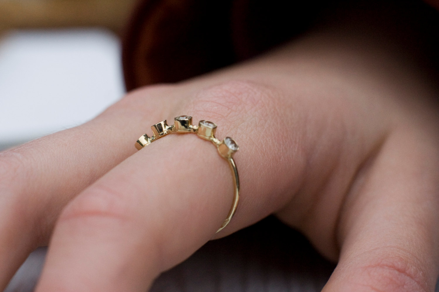 Diamond wedding ring in 14k gold, wedding ring, stacking stacking ...